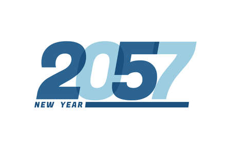 Happy New Year 2057. Happy New Year 2057 text design for Brochure design, card, banner