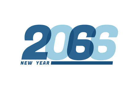 Happy New Year 2066. Happy New Year 2066 text design for Brochure design, card, banner