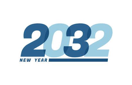 Happy New Year 2032. Happy New Year 2032 text design for Brochure design, card, banner Illusztráció