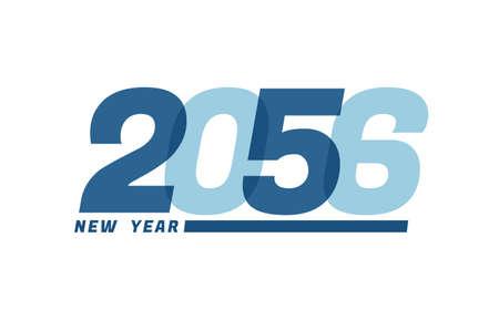 Happy New Year 2056. Happy New Year 2056 text design for Brochure design, card, banner Illusztráció