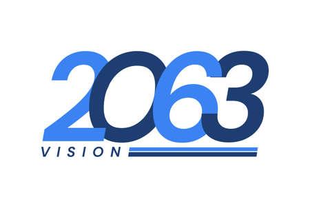 Happy New Year 2063. 2063 Vision Modern Design for Calendar, Greeting Cards, Invitations, Flyers or Prints Illusztráció