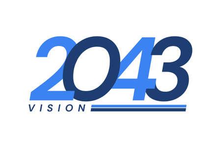 Happy New Year 2043. 2043 Vision Modern Design for Calendar, Greeting Cards, Invitations, Flyers or Prints Illusztráció