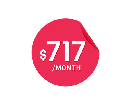 $717 Dollar Month. 717 USD Monthly sticker