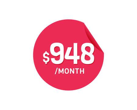 $948 Dollar Month. 948 USD Monthly sticker