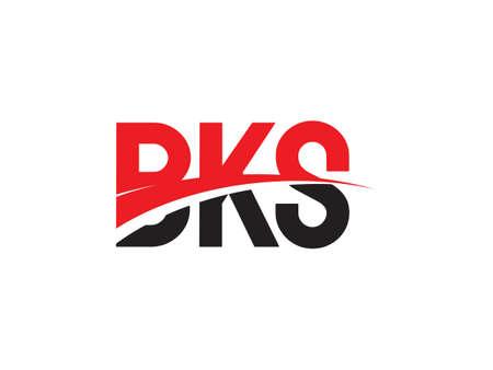 BKS Letter Initial Logo Design Vector Illustration