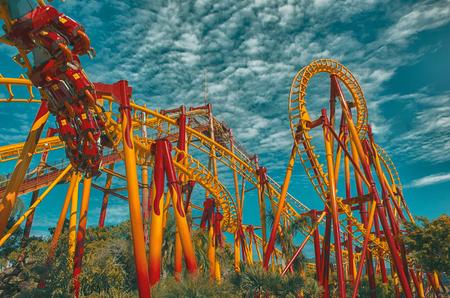 Roller Coaster - Beto Carrero World - Santa Catarina . Brazil   Rubem Sousa . Fora the Box® Foto de archivo - 103408439