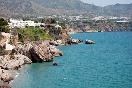 View of the Calahonda beach in Nerja, Malaga (Spain)  photo