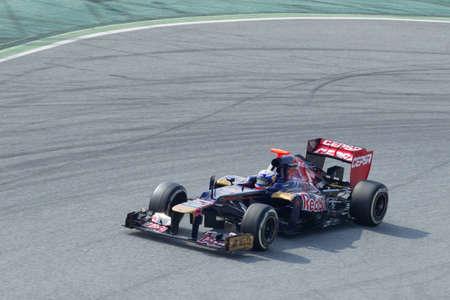 BARCELONA, SPAIN, March 3:  Daniel Ricciardo (AUS)  Scuderia Toro Rosso, Formula One Teams Testing days, Catalunya circuit March 3, 2012 in Barcelona (Spain) Stock Photo - 12489253