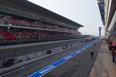 BARCELONA, SPAIN, March 3:  Event Formula One Teams Testing days, Catalunya circuit March 3, 2012 in Barcelona (Spain)