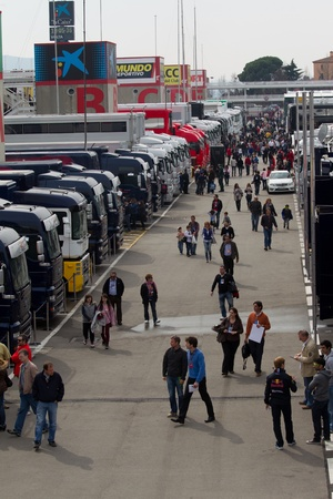 catalunia: BARCELONA, SPAIN, March 4: Paddock during  Formula One Testing days, Catalunia, Barcelona (Spain), Sunday,March 4, 2012