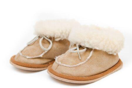 brawn: Two brawn boots on white background