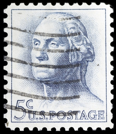 United States of America  - CIRCA 1966  a stamp printed in United States of America, shows a George Washington the first president of United States of America, circa 1966