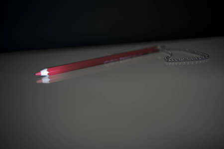 Red voting pencil photo