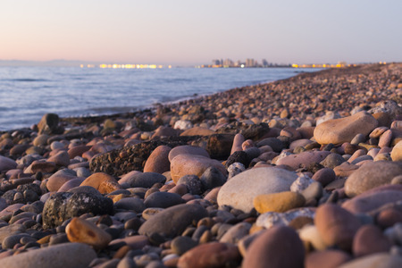 brownstone: brownstone beach Stock Photo