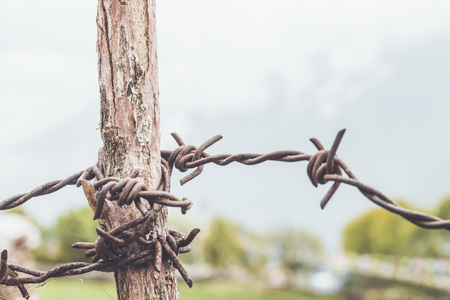 sherpa: Metal fence Stock Photo