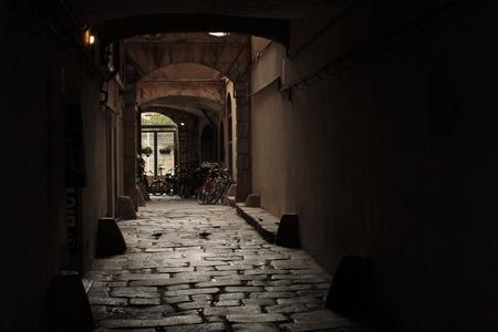 Alley di Barcellona Archivio Fotografico - 81161903