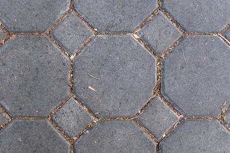patrón geométrico de ladrillo gris en el piso