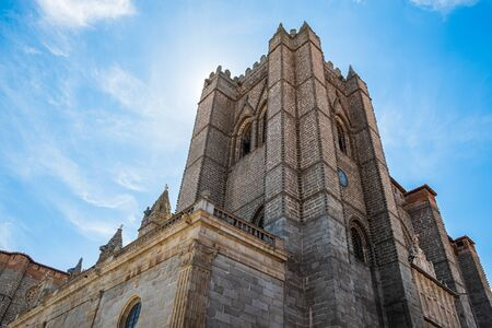 Main view of Cathedral of Avila, Spain