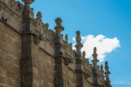 Detail view of balustrade of Cathedral of Avila, Spain Stock fotó