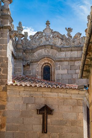 Detail view of side of Cathedral of Avila, Spain Stock fotó