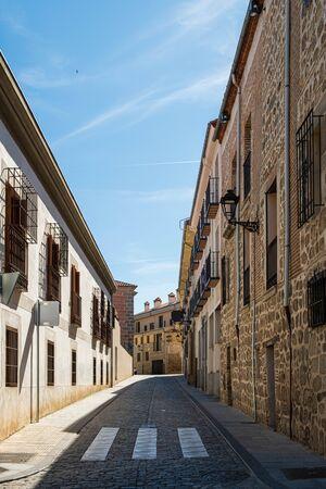 Detail view of street in Avila, Spain