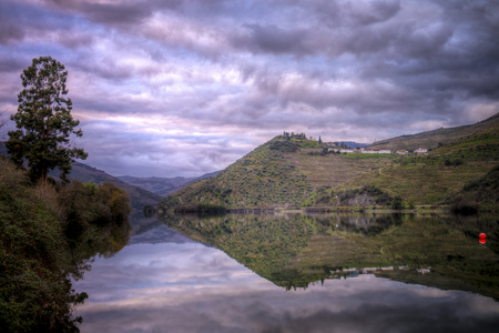 Winter afternoon in Douro River, Portugal.