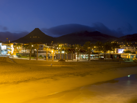 Porto Santo, Madeira, Portugal, at night Stock Photo