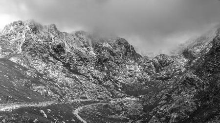Serra da Estrela with snow, Portugal Stok Fotoğraf