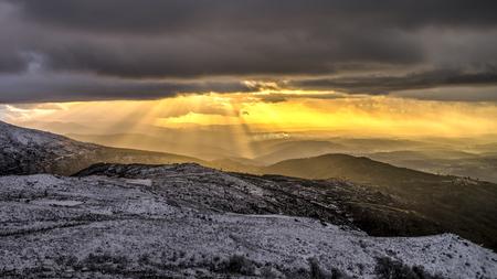 Sun Rays in Serra da Estrela, Portugal
