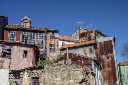 Old rusty houses