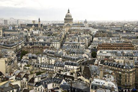 rooftop: De daken van Parijs van de Notre Dame kathedraal