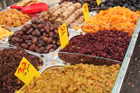 apricot kernels: Dried fruits, as presented at the market