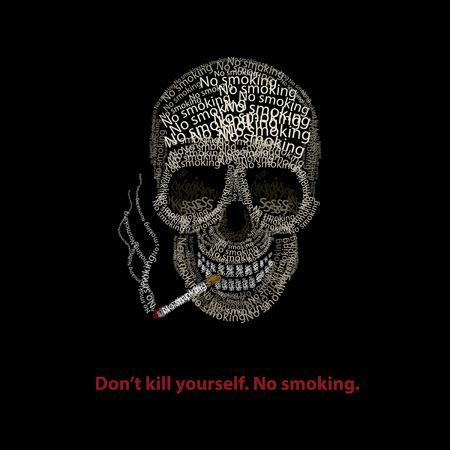 vector habilidad tipográfica no fumar