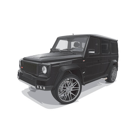 rear wheel: black big representative off road vehicle  Illustration
