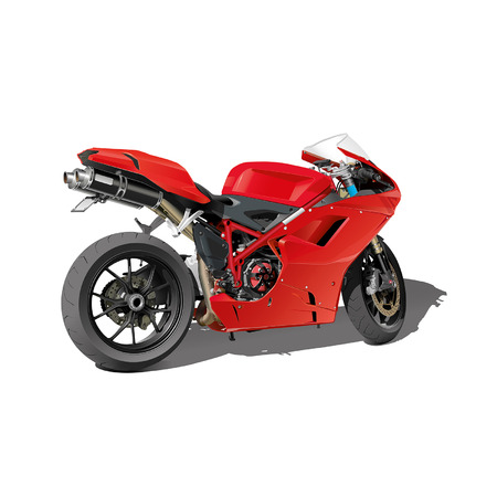 extremal: red super sports motorbike