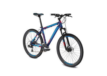 mtb: vector detail isolated mountain blue red bike