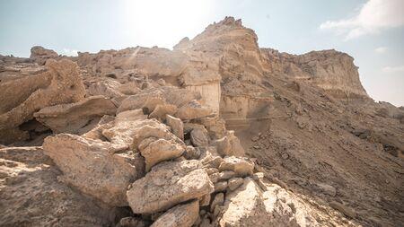 Rocks of the desert canyon