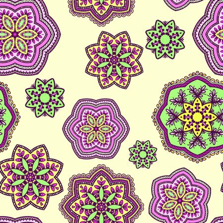 napkins: Seamless background pattern made op colorful napkins.