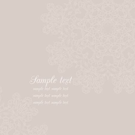 beige: Vector invitation card with delicate beige background.