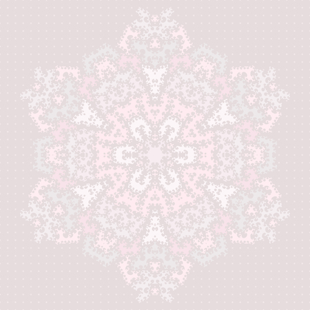 mongoloid: Ornamental rounded lace. Delicate and curly pastel background.