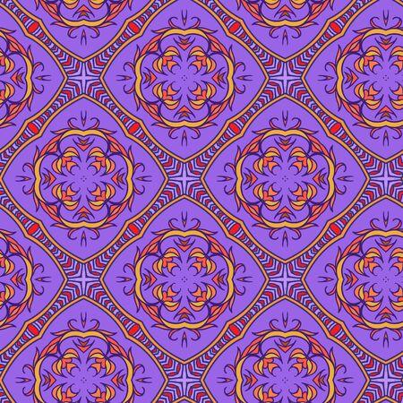 violet background: Seamless violet background. Oriental motives. Illustration