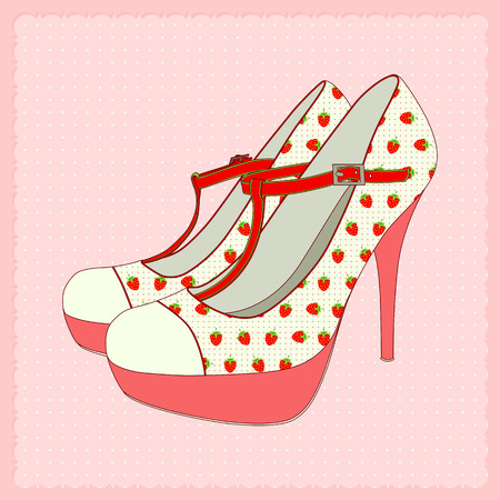 Vector illustration of lovely women high heels.