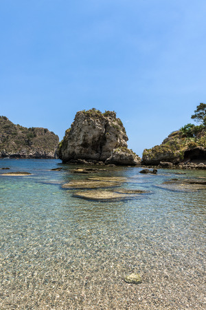 taormina: Seascape in Taormina, Sicily Stock Photo