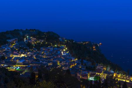 taormina: Taormina, Sicily - night scene