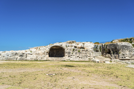 syracuse: Ancient ruins of Greek Theater in Syracuse, Sicily