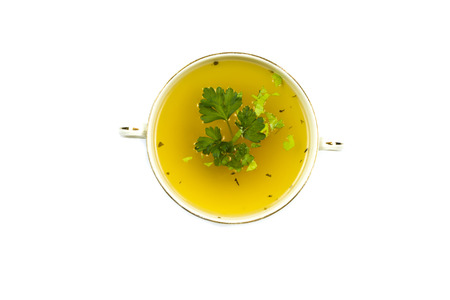 broth: Clear chicken broth