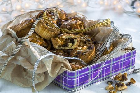 carne picada: Tradicionales Navidad pica las empanadas caseras Foto de archivo