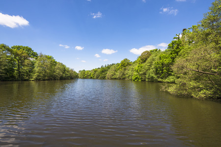 サリー、英国でヴァージニア水公園の湖 写真素材 - 57401760