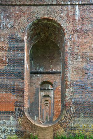 london to brighton: Balcombe Viaduct in Ouse Valley, West Sussex, UK