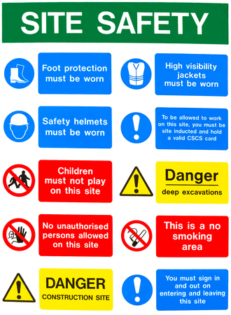 Health and safety warning sign message board